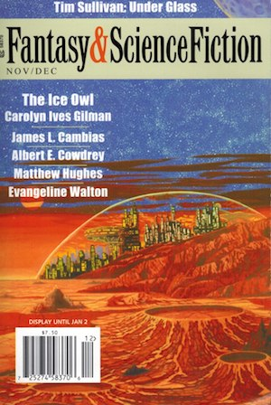 Cover Image for Fantasy & Science Fiction Magazine November/December 2011, The Ice Owl by Carolyn Ives Gilman